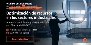 WEBINAR GRATUÏT Optimització de recursos en els sectors d'instal·lacions, construcció i manteniment industrials